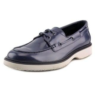 Hogan H217 Route Mod. Barca Moc Toe Leather Boat Shoe