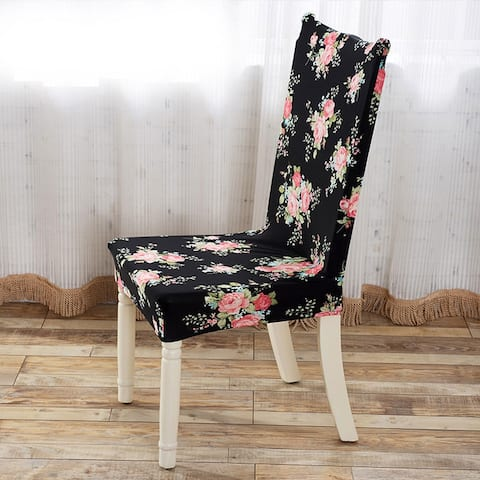 Unique Bargains Household Removable Stretch Elastic Dining Chair Cover - Multi-Color
