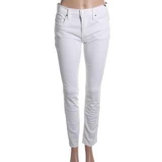DKNY Jeans Womens Juniors Mid-Rise Regular Fit Skinny Jeans