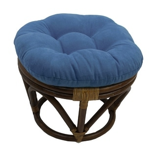 Link to International Caravan Bali Papasan Footstool with Microsuede Cushion Similar Items in Decorative Accessories