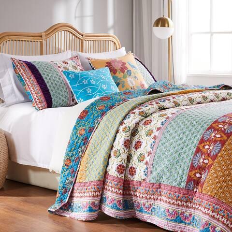 Greenland Home Fashions Thalia 3-piece Boho Cotton Quilt Set