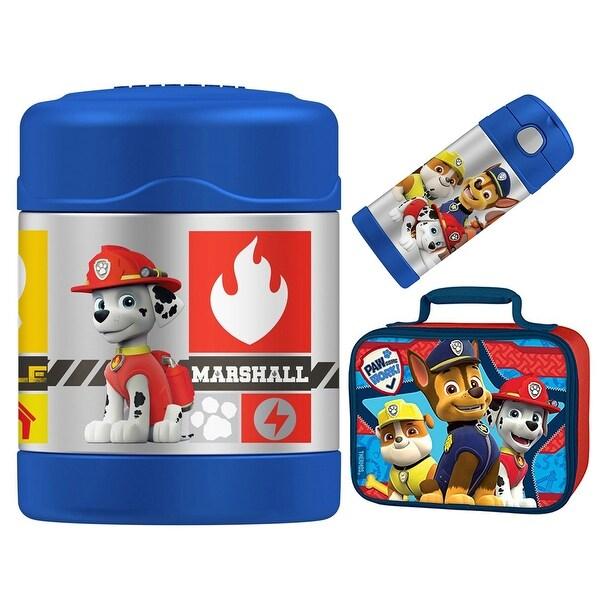 Thermos Funtainer 10 oz Food Jar, 12 oz Bottle Lunch Kit - Paw Patrol - Blue