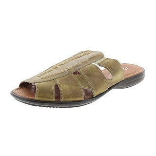 Bacco Bucci Mens Neto Leather Distressed Slide Sandals - 13 medium (d)