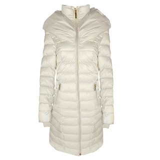 Link to Laundry by Shelli Segal White Maxi Coat Puffer Similar Items in Women's Outerwear