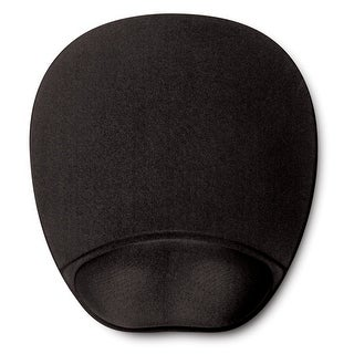 Memory Foam Mouse Mat With Wrist Rest- Black