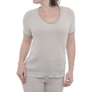 Lavia Short Sleeve Scoop Neck T-shirt Women Regular Blouse