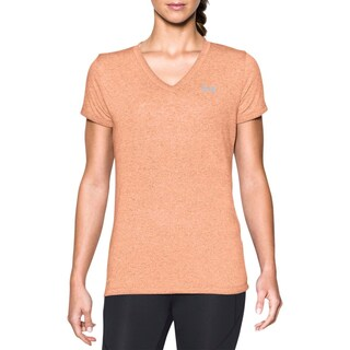 Under Armour Womens Shirts & Tops Moisture Wicking Quick Dry (Option: peach/steel - M)