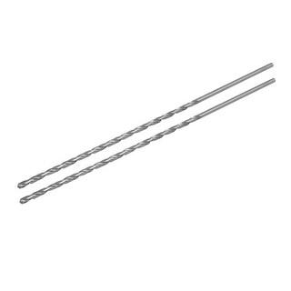 5mm Dia 300mm Length HSS Straight Round Shank Twist Drill Bit Drilling Tool 2pcs