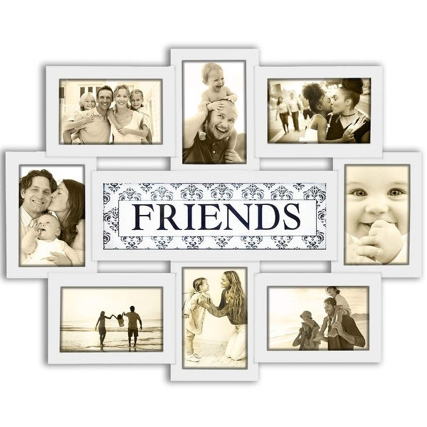 DL furniture - 12 Opening Decorative Wall Hanging Collage Puzzle Picture Photo Frame | Friends