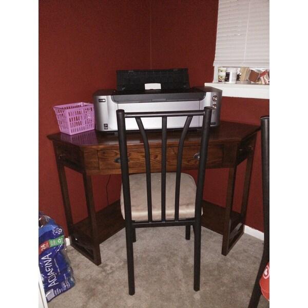 Hardwood Corner Laptop Desk Free Shipping Today Com 16447096