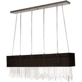 Stylish Pendant Light, 4 Light, Fabric Shade