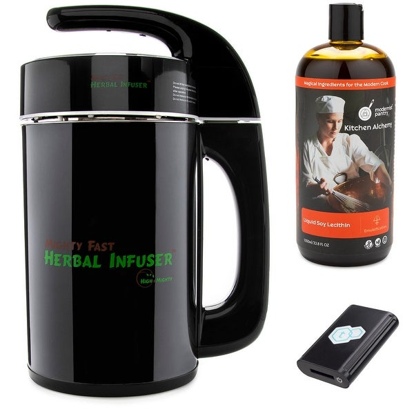 Mighty Fast Herbal Infuser with tCheck 2 Black Tester, Liquid Soy Lecithin (1L)