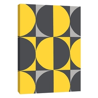 """PTM Images 9-105719  PTM Canvas Collection 10"""" x 8"""" - """"Monochrome Patterns 5 in Yellow"""" Giclee Abstract Art Print on Canvas"""