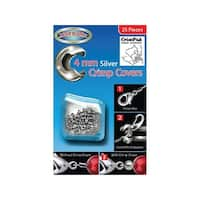Bead Buddy Crimp Cover 4mm Silver 25pc
