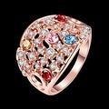 Rose Gold Plated Rainbow Multi-Color Ring - Thumbnail 1