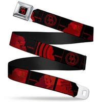 Marvel Universe Daredevil Dd Logo Full Color Black Red Daredevil Dd Logo Seatbelt Belt