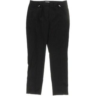 Tahari ASL Womens Straight Leg Pants Flat Front Zipper Detail - 2