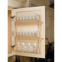 """Rev-A-Shelf 4SR-21 4SR Series Door Mount Spice Rack for 21"""" Wall Cabinet - Natural Wood"""