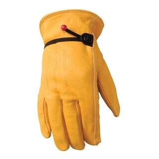 Wells Lamont Grain Cowhide Work Gloves for Men-Large 1132L