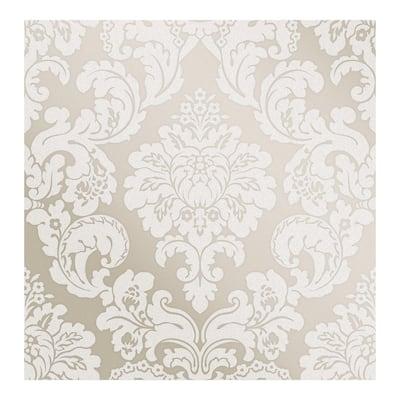 Margot Bronze Damask Wallpaper - 20.5 x 396 x 0.025
