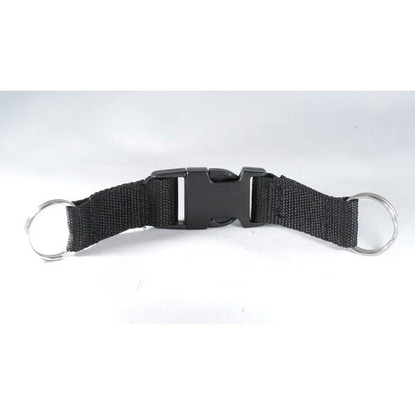 Double Split Ring w/Detachable Clip Lanyard Black