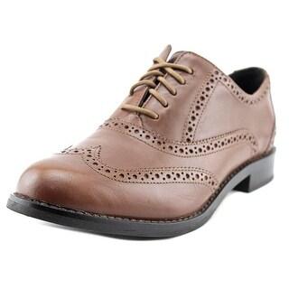 Cole Haan Skylar Women Wingtip Toe Leather Brown Oxford