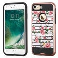 Insten Pink/ White Fresh Roses Hard Snap-on Dual Layer Hybrid Case Cover For Apple iPhone 7 - Thumbnail 0