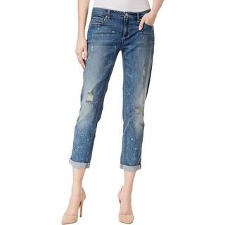 Vintage America Womens Boyfriend Jeans Denim Distressed