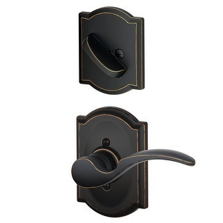 Schlage F94-STA-CAM-LH St. Annes Left Handed Dummy Interior Pack with Deadbolt Cover Plate and Decorative Camelot Trim