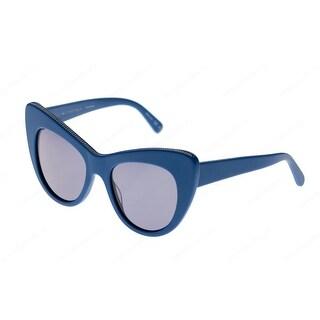 Sc0006S 004 Oversized Cat Eye Sunglasses In Blue With Blue Lenses