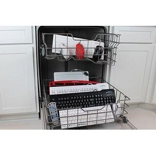 Seal Shield - Silver Storm Medical Grade Keyboard - Dishwasher Safe & Antimicrobial (Red Base)