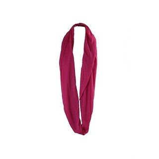 Collection Xiix Pink Solid Jersey Knit Infinity Loo Scarf OS
