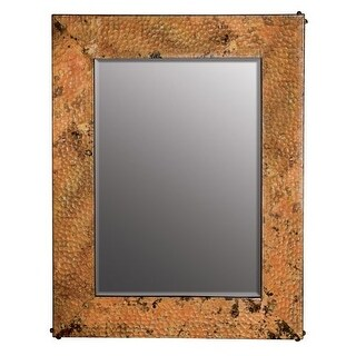 "Native Trails CPM91 Tuscany Rectangular 27-1/2""H x 21-1/2""W Beveled Copper Mirror"