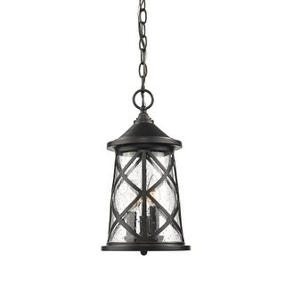 "Millennium Lighting 2504 3 Light 8"" Wide Outdoor Mini Pendant with Glass Shade"