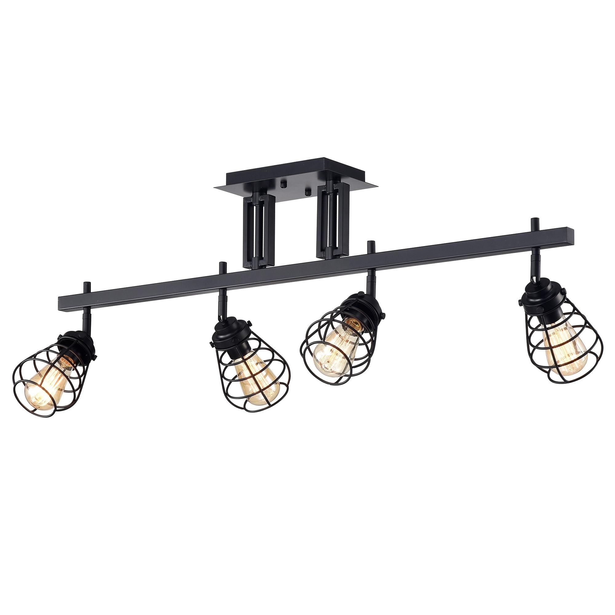 Zefina Matte Black 4 Light Track Light On Sale Overstock 28245032