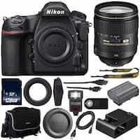 Nikon D850 DSLR Camera (Body Only) + Nikon 24-120mm f/4G Lens + 128GB SDXC Card + Mini HDMI Cable + Universal Remote Bundle
