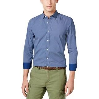 Tommy Hilfiger Mens Button-Down Shirt Cotton Pattern - S