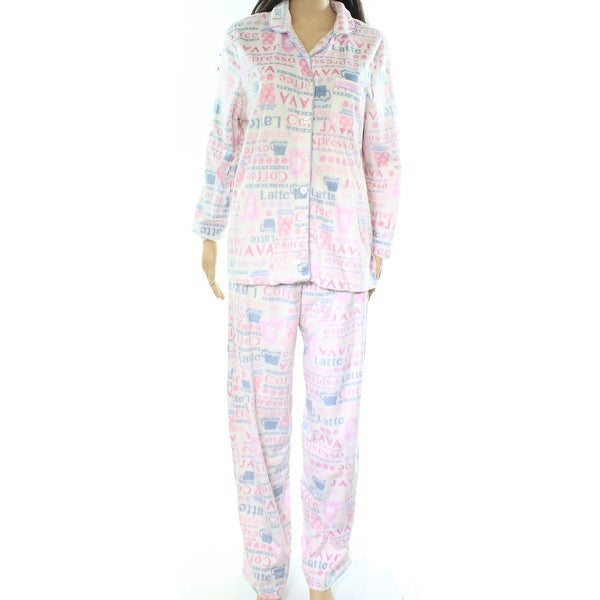 04aa101590 Shop Karen Neuburger NEW Pink Womens Size Small S Fleece Coffee Pajama Sets  - Free Shipping On Orders Over  45 - Overstock - 20591062