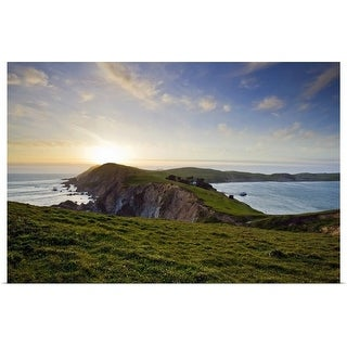 """Point Reyes National Seashore at sunset on the northern California coast"" Poster Print"