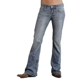 Stetson Western Denim Jeans Womens Studded Light