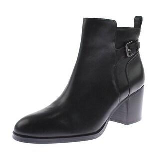 Lauren Ralph Lauren Womens GENNA Booties Leather Almond Toe - 10 medium (b,m)