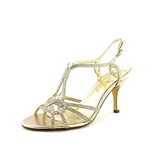 Nina Glennis Women Open Toe Synthetic Gold Sandals