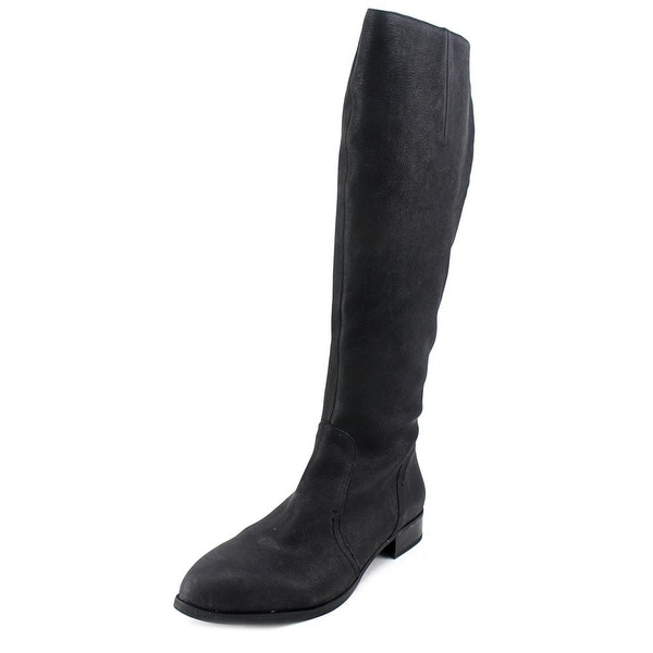 Nine West Nicolah Women Pointed Toe Leather Black Knee High Boot