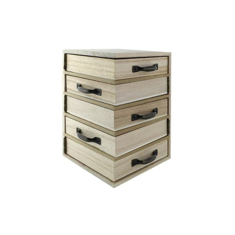 SPC Wood Jewelry Box 5 Hinge Piviot 4.5x4.5 - Medium