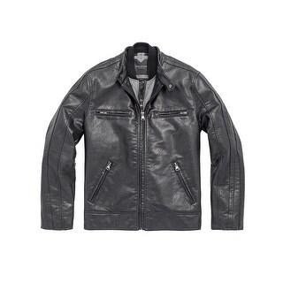 Marc New York Mens Anson Racer Jacket in Black