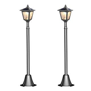 Buy solar lighting online at overstock our best outdoor kanstar pack of 2 solar powered 42 outdoor vintage mini street lamp post light aloadofball Images