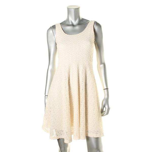 Aqua Womens Lace Sleeveless Casual Dress   19678940