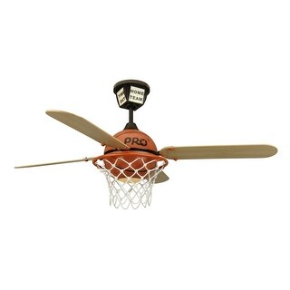 """Craftmade ProStar Basketball Youth Fans 52"""" 4 Blade Indoor Ceiling Fan - Blades, Remote and Light Kit Included"""