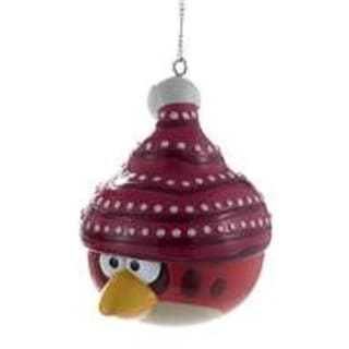 "3"" Angry Birds™ Red Glitter Bird Decorative Christmas Ornament"