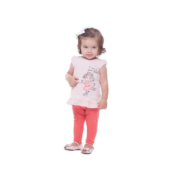 Pulla Bulla Baby Girl Shirt Short Sleeve Graphic Tee Newborn 3-12 Months